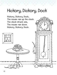 """Hickory, Dickory, Dock"" Lesson Plan"