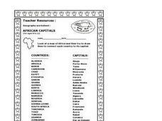 African Capitals Worksheet
