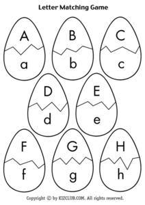 Egg Letter Matching Lesson Plan