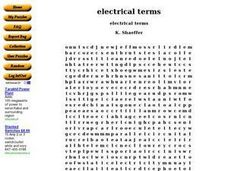 Electrical Terms Worksheet