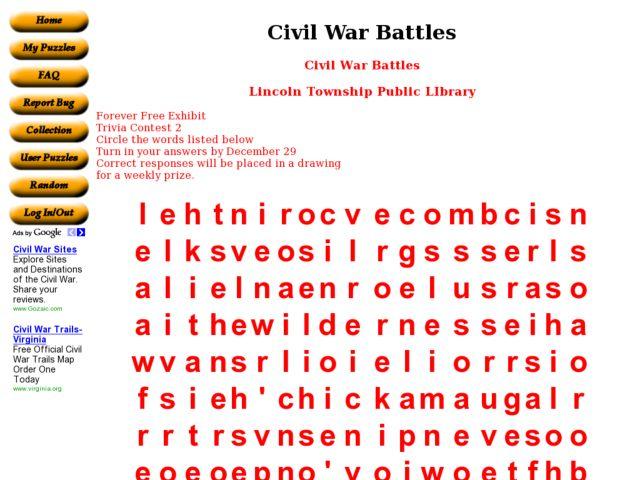 Civil War Battles Lesson Plans Worksheets Lesson Planet