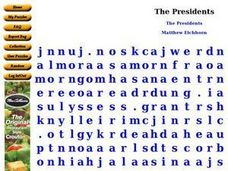 The Presidents Worksheet
