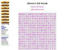 Worksheets Drivers Ed Worksheets drivers ed vocab 6th 8th grade worksheet lesson planet worksheet