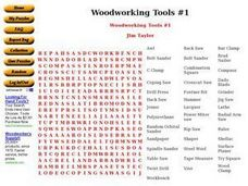 Woodworking Tools #1 Worksheet