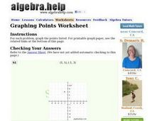 Graphing Points Worksheet Worksheet