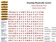 Staying Physically Active Worksheet