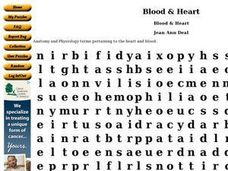 Blood & Heart Worksheet