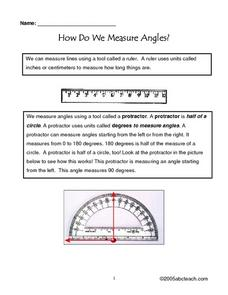 How Do We Measure Angles Worksheet