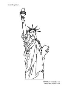 Statue of Liberty Picture Worksheet