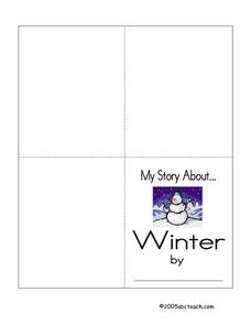 My Story About Winter Printables & Template