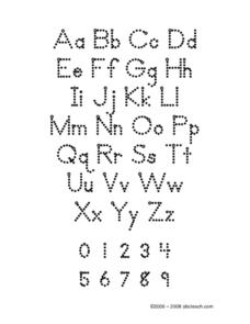 Zaner Bloser Alphabet Tracing Worksheet