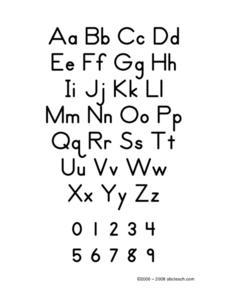 Zaner Bloser Alphabet Worksheet