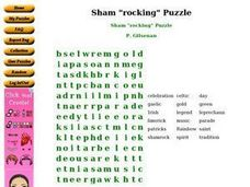 "Sham ""rocking"" Puzzle Worksheet"