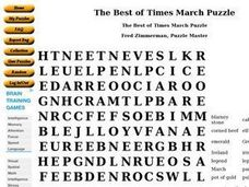 The Best of Times March Puzzle Worksheet