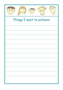 Things I want to achieve Worksheet