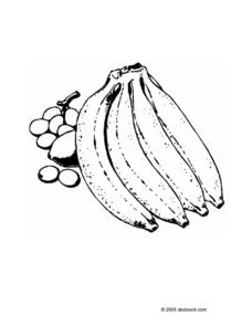 DRAWING OF A BUNCH OF BANANAS Printables & Template