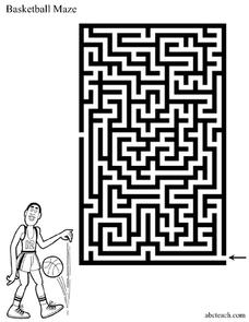 BASKETBALL MAZE Worksheet
