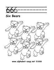 6 6 6 - 6 BEARS Worksheet