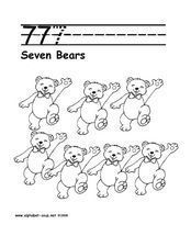 7 7 7 - SEVEN BEARS Worksheet