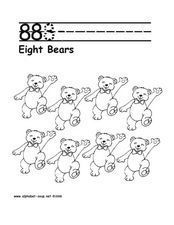 8 8 8 - EIGHT BEARS Worksheet