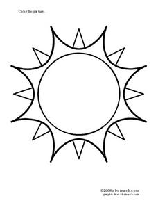 Sun Picture Worksheet