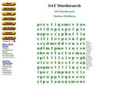 SAT Wordsearch Worksheet