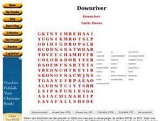 Downriver Worksheet