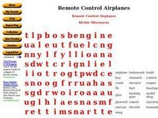 Remote Control Airplanes Worksheet
