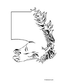 Horse Head Drawing Worksheet