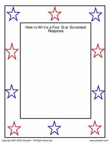 How to Write a Four Star Extended Response Worksheet