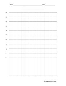 Blank Bar Graph -interval of 5 Worksheet