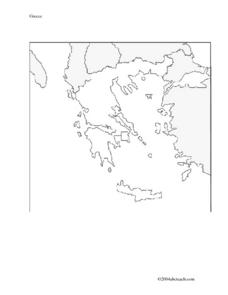 Map And Flag of Greece Worksheet