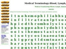 Medical Terminology - Blood, Lymph, Immunity Worksheet