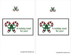 Candy Cane Gift Card Worksheet