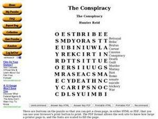 The Conspiracy Worksheet