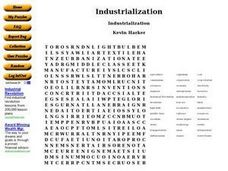 Industrialization Word Search Worksheet