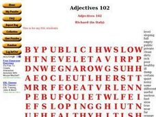 Adjectives 102 Worksheet