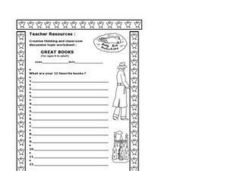 Great Books Worksheet