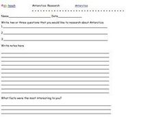 Antarctica Research Worksheet