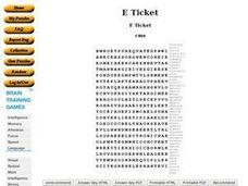 E Ticket Worksheet