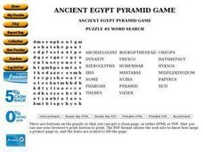 ANCIENT EGYPT PYRAMID GAME Worksheet