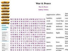 War & Peace Worksheet