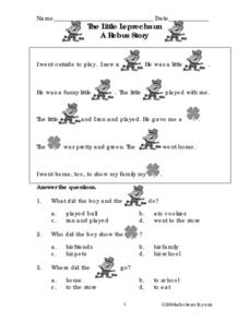 The Little Leprechaun Worksheet