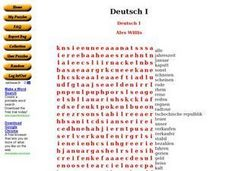 Deutsch I Worksheet