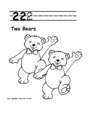 Two Bears Worksheet