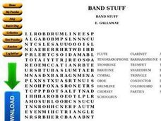 BAND STUFF Worksheet