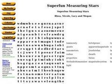 Superfun Measuring Stars Worksheet