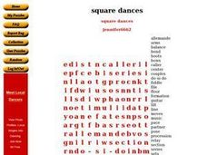 Square Dances Worksheet