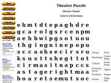 Theater Puzzle Worksheet