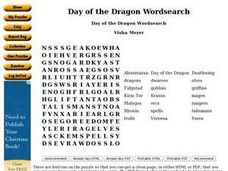 Day of the Dragon Wordsearch Worksheet